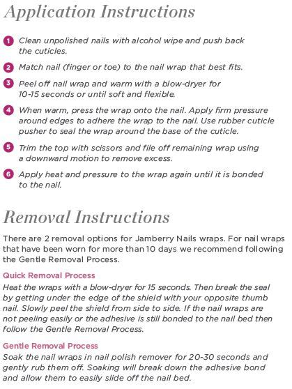 printable jamberry instructions 17 best images about jams sle bags on pinterest