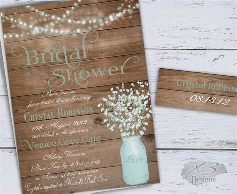 diy rustic bridal shower invitations mint to be handmade wedding inspiration board