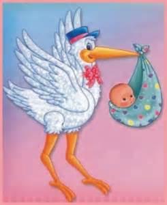 baby shower ciguena lamina comestible ideas para