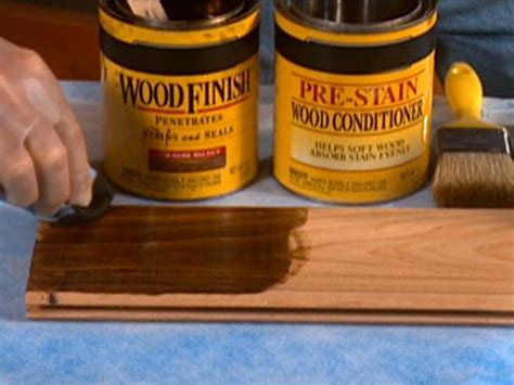 tips on staining wood diy
