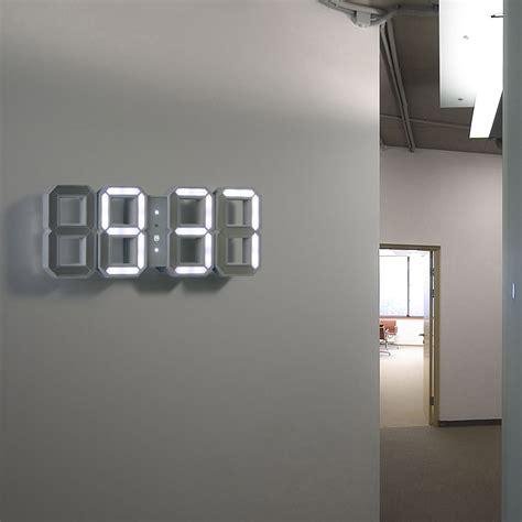 wall clock digital modern wall clock home design by fuller