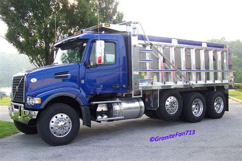 volvo vhd tri axle dump truck trucks buses trains  granitefan flickr