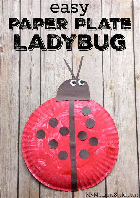 Ladybug Paper Plate Craft - easy paper plate ladybug craft my style