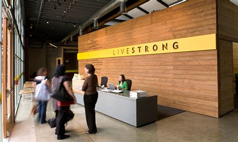 Front Desk Hq by Lance Armstrong Foundation Headquarters Segd