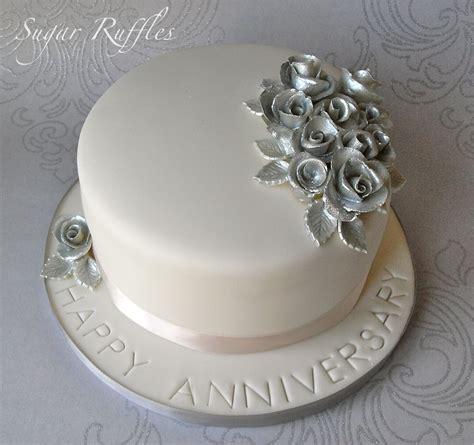 silver wedding anniversary cake flickr photo sharing
