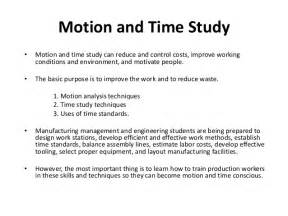 time in motion study template motion and time study