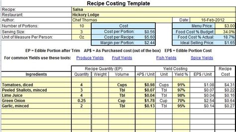 How To Perform A Portion Audit And Save Your Restaurant Money Production Rate Card Template
