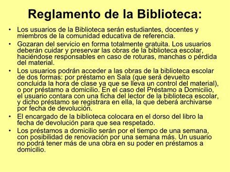 la biblioteca de los b01mtv3x01 reglamento de biblioteca