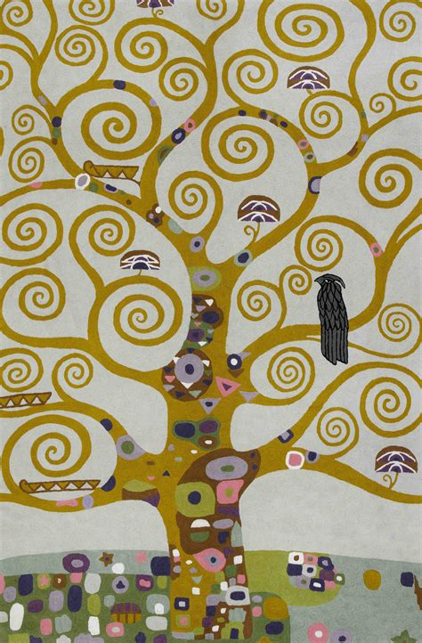 Traditional Rug Uk by Klimt Tree Of Life Rug Tiff