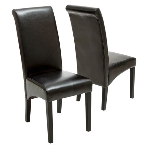 Wood And Leather Dining Chairs Bonded Leather Dining Chairs Wood Set Of 2 Christopher Home Ebay
