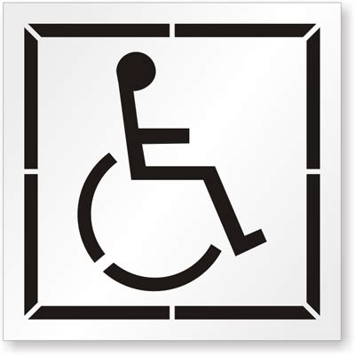 handicap template handicap parking with graphic sku st 0118