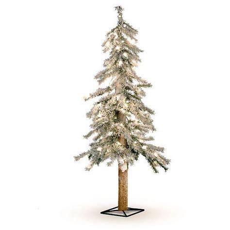 flocked alpine tree lighted pre lit flocked alpine tree indoor decor 5 sizes ebay