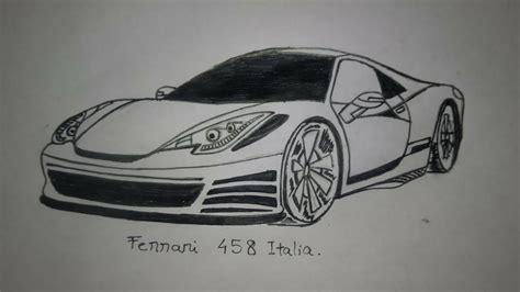 ferrari 458 sketch ferrari 458 italia pen sketch youtube
