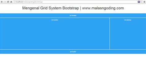 bootstrap layout scaffolding grid bootstrap tutorial bootstrap part 16 mengenal grid system bootstrap malas