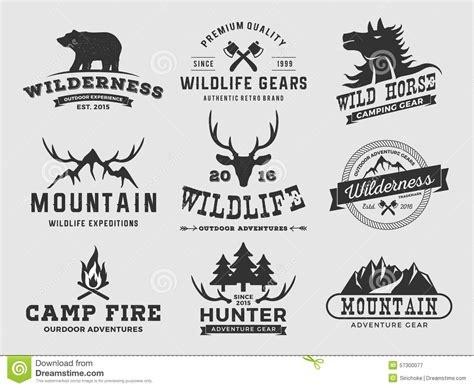 Wedding Emblem Font by Set Of Outdoor Wilderness Adventure And Mountain Badge