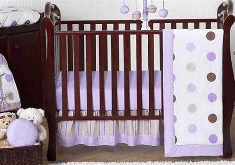 Purple Polka Dot Crib Bedding Purple And Brown Modern Polka Dot Baby Bedding 11pc Crib Set Only 189 99