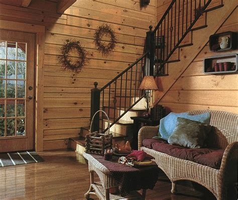 painting log walls inside the effect painted logs might on the resale of your log