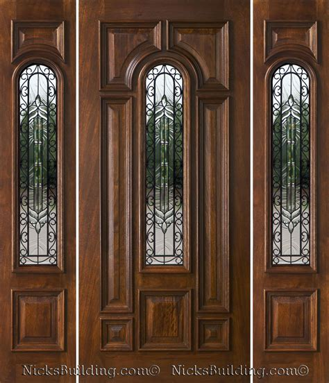 Exterior Door Sidelights Exterior Doors With Sidelights Solid Mahogany Entry Doors