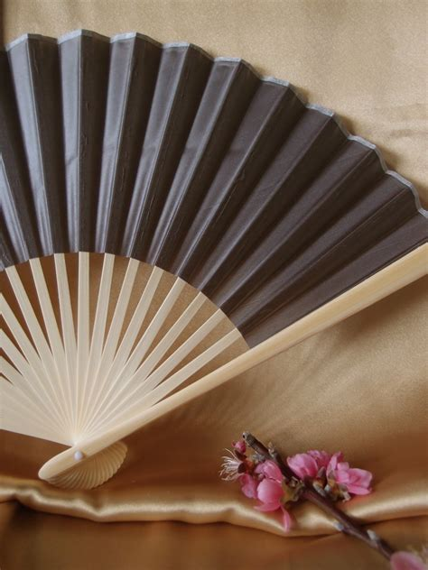 hand fans for wedding 9 quot gray grey chinese folding silk hand fan for weddings