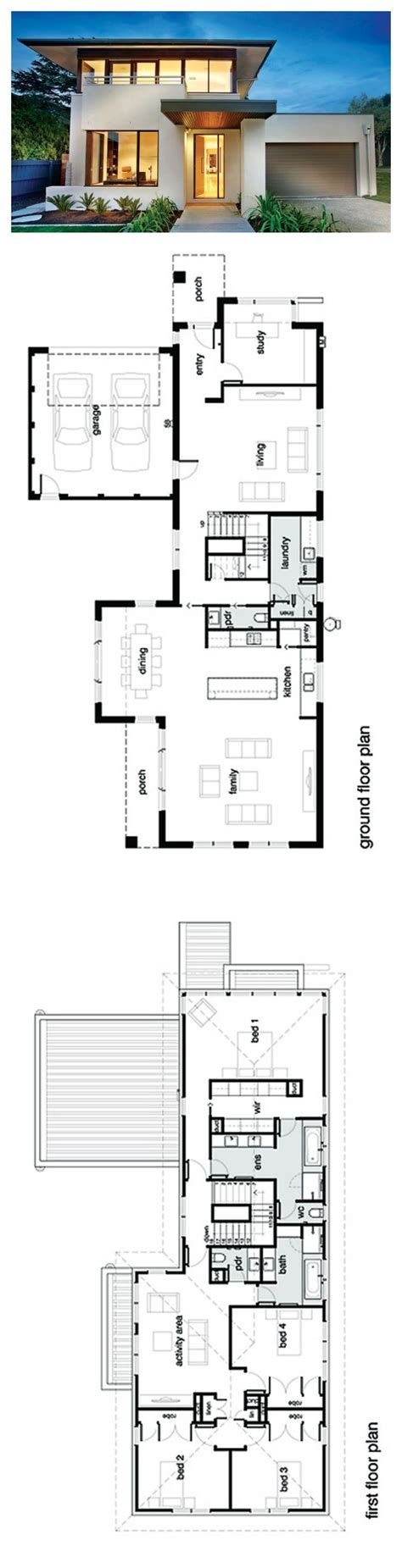 Contemporary 4 Bedroom House Plans by Best 25 Modern House Plans Ideas On