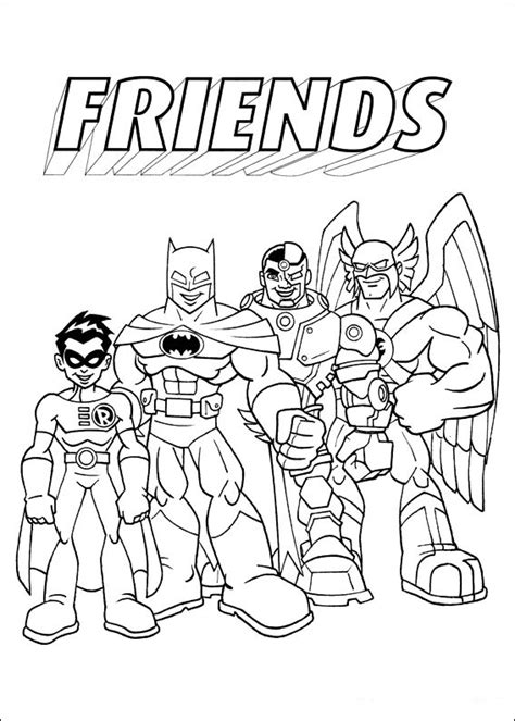coloring pages with friends free coloring pages of super hero friends