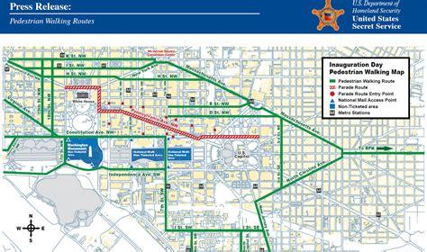 washington dc map secret inauguration day draws thousands to downtown dc
