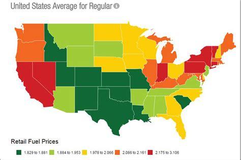 gas prices map usa gasbuddy usa map