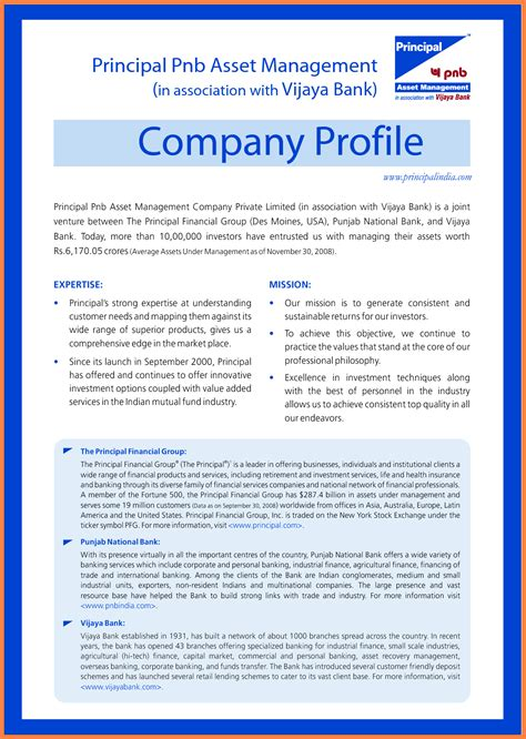 one page company profile template 5 company profile sle in word company letterhead