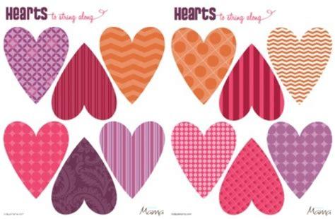printable heart decorations printable valentine decorationsdelightful printable