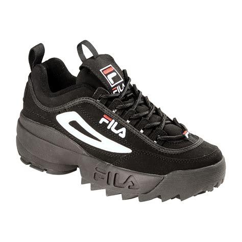 fila s disruptor casual athletic shoe black white
