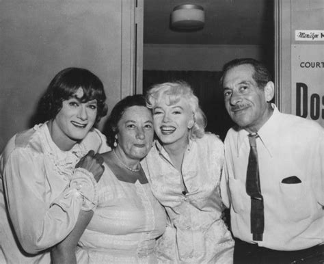 marilyn monroe parents marilyn on the set of some like it hot with tony curtis