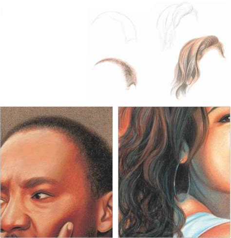 colored pencil skin tones continue to layer the skin tones and shadows drawing in