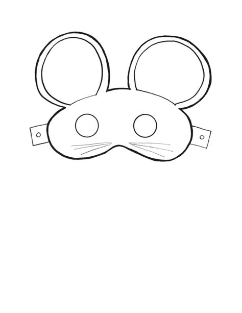 mouse mask template printable printable mouse masks masks and costumes
