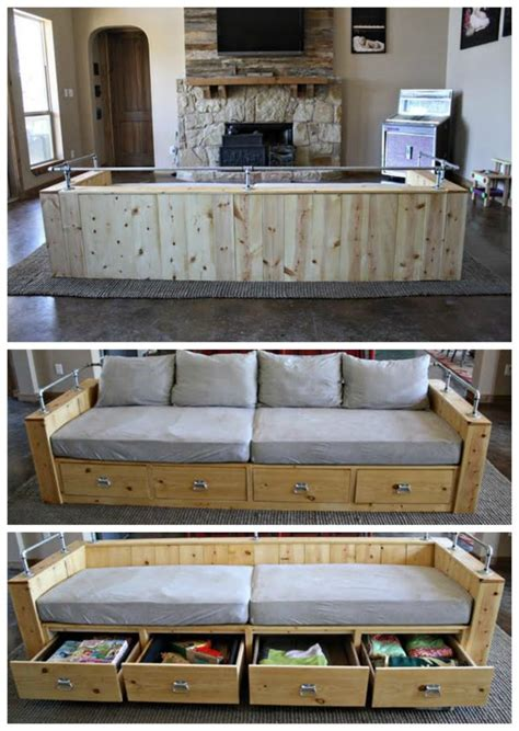modern wood storage sofa ana white