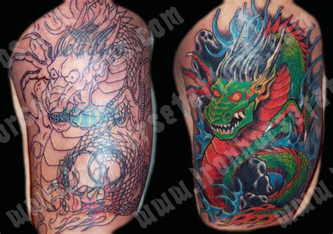 tattoo cover up dragon dragon coverup by tony otto tattoonow