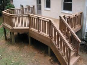stairs the right steps on building deck stair railing