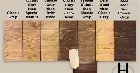 Minwax stain color study, Classic Grey, Special Walnut