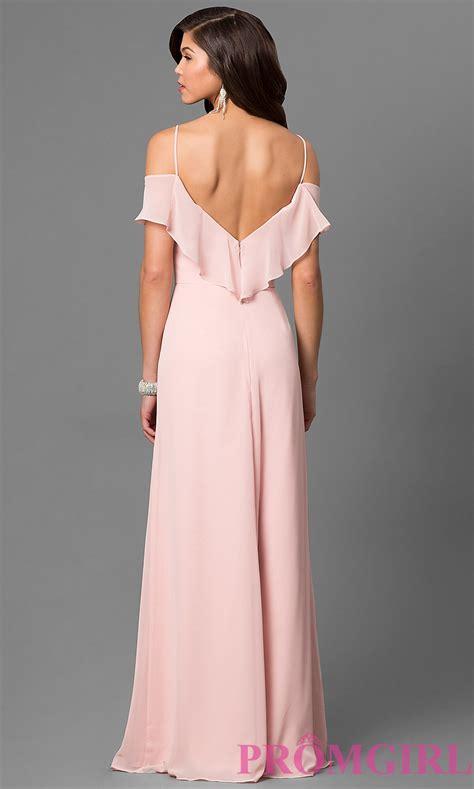 Bj 0615 Black Shoulder Dress blush pink cold shoulder prom dress promgirl