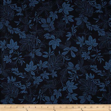 108 quot wide quilt back modern leaf navy blue discount