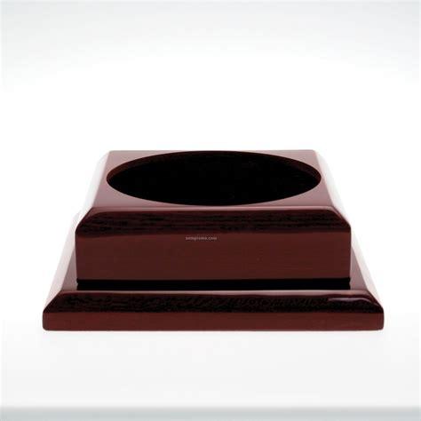 brass tray base wood award base china wholesale wood award base