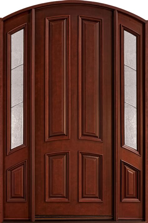 front door sled designs front door custom single with 2 sidelites solid wood with mahogany finish classic