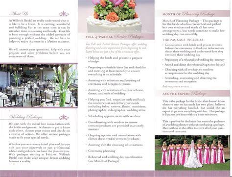 wedding planner brochure template the willrich wedding planner s our new brochure