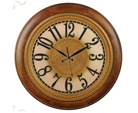 living room clocks country style silent wooden wall clock for living room