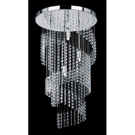 Endon 91290 4 Light Modern Crystal Chandelier Spiral Modern Chandelier Uk