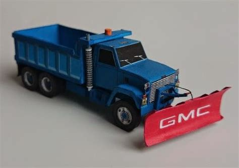 Paper Craft Truck - papermau gmc brigadier snowplow truck paper model by