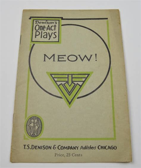 fifteen one act plays vintage meow one act play script antique 1914