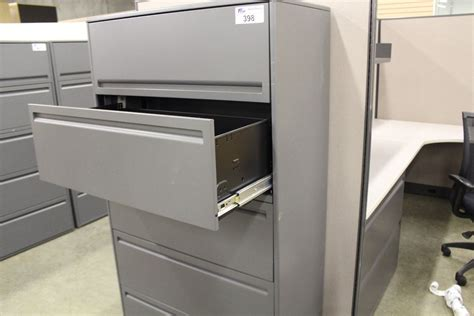 Haworth Lateral File Cabinet Haworth Premise 5 Grey Drawer Lateral File Cabinet Able Auctions