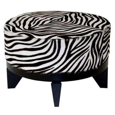 round zebra ottoman ottomans archives james salmond furniture