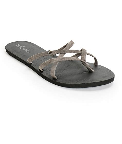 volcom new school sandals volcom new school grey sandals