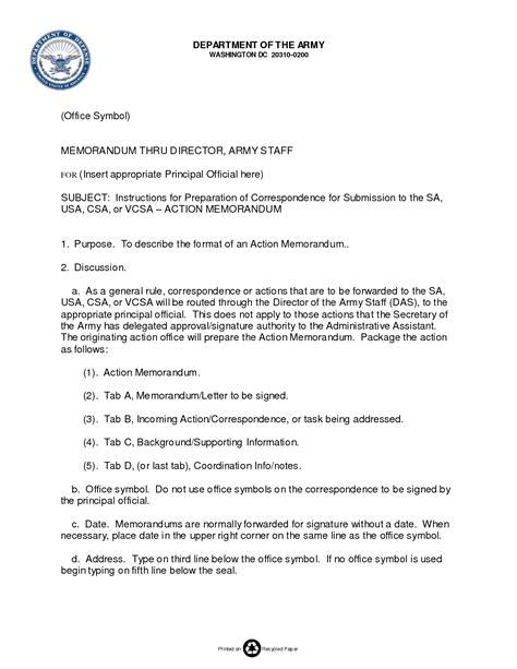 best photos of army memorandum template word exle